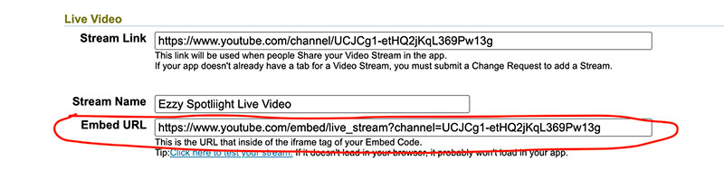 Video Embed URL